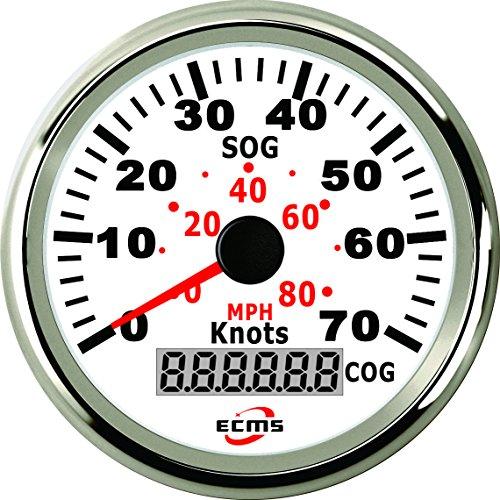 0 60 Knoten Wasserdichte GPS Digital Tacho Kilometerzähler Gauge 85mm 316L