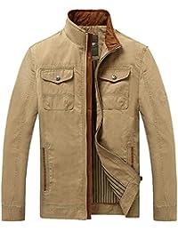 Collier du support de la veste de la fermeture éclair de la veste du loisir du coton hommes rompevientos ()