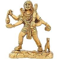 Induismo ottone indiano di arte del metallo Signore Bhairav ??Nath Forma di Lord Shiva Statua 7 pollici