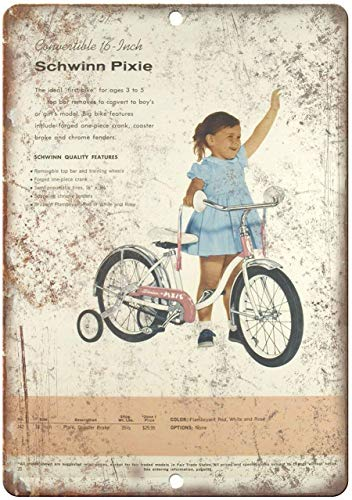 Froy Personalized Bicycles Pixie Kids Bike Ad Plaque Blech Vintage personalisierte Kunst Kreativität Dekoration Handwerk für Cafe Bar Garage Home (Kids-bike-dekorationen)