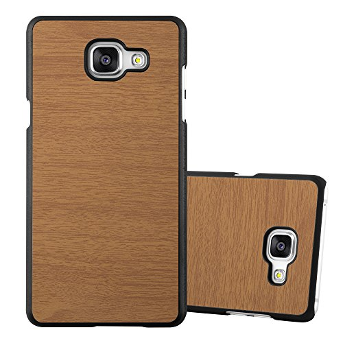 Preisvergleich Produktbild Cadorabo Hülle für Samsung Galaxy A5 2016 (6) - Hülle in Woody BRAUN – Hardcase Handyhülle in Vintage Holz Optik - Schutzhülle Bumper Back Case Cover