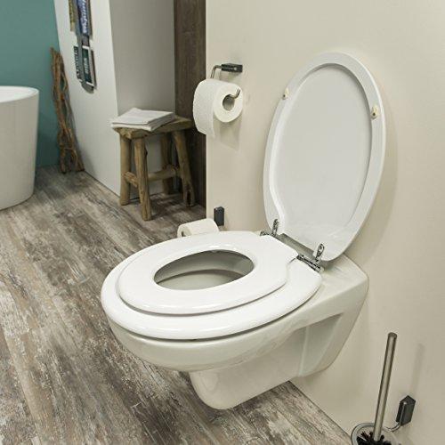 Tiger 2520 Toilettensitz Family mit integriertem Kindersitz, Holz, weiß