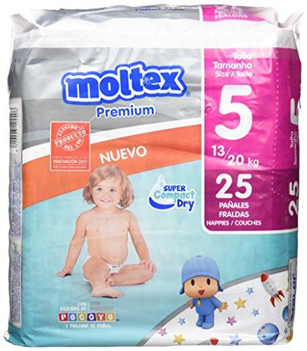 Moltex Premium, Talla 5, 13/20 kg - 25 Pañales