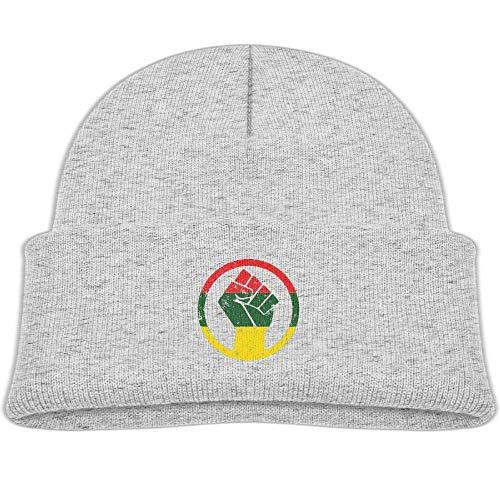 Preisvergleich Produktbild Boys Girls Rasta Black Power Fist Knitted Beanie Caps Cute Kids Warm Hats Adjustable Fashion Unisex