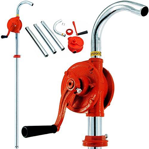 Monzana® Kurbelfasspumpe Kurbelpumpe   aus Gusseisen Metall   verstellbare Fassverschraubung   30l/min - Fasspumpe Handpumpe Umfüllpumpe Ölpumpe