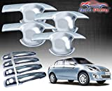 #9: Auto Pearl - Premium Quality Chrome Handle Bowl Insert Trim Cover For - Maruti Suzuki New Swift Dzire