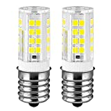 KINDEEP Ceramic E17 LED Bulb for Microwave Oven Appliance, 5W (40W Halogen Bulb Equivalent), Daylight White 6000K, Pack of 2