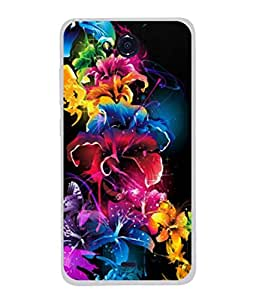 PrintVisa Designer Back Case Cover for Micromax Canvas Play Q355 (Colourful Picture Poster Design Flower Lilly )