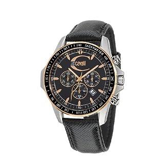 Just Cavalli R7271693125 – Reloj cronógrafo de Caballero de Cuarzo con Correa de plástico Negra