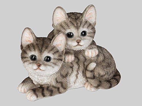 Katze Katzen Paar Deko Garten Tier Figur Skulptur Katzenfigur Dekofigur Statue Garten Statue Paar