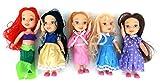 5 Stück MyFairy Minis© Prinzessinnen Puppe mit Puppenkleidung, 11cm