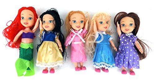 5 Stück MyFairy Minis© Prinzessinnen Puppe mit Puppenkleidung, 11cm thumbnail
