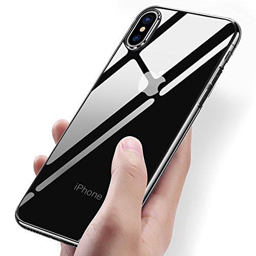 iPhone X Handyhülle, Vitutech Crystal iPhone X Silikon Hülle TPU Bumper Case Premium Kratzfest Ultra Dünn Anti-Shock Weich Schutzhülle für iPhone X Case Cover - Transparent