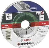 Bosch 2 609 256 332 - Juego de discos de tronzar de 5 piezas, acodado para metal