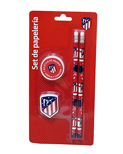 Set papeleria Atletico Madrid 4pz
