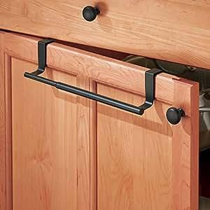 barre support de torchon de cuisine mdesign extensible placer par dessus une porte de placard. Black Bedroom Furniture Sets. Home Design Ideas