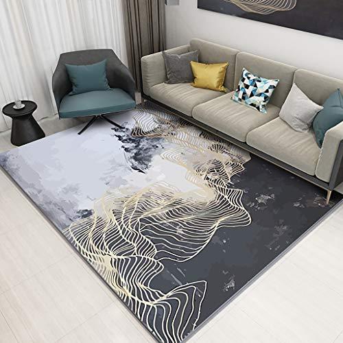 Seso uk-car tappeto antiscivolo per la casa in stile europeo per camera da letto geometrica tappeto spessore 6mm (dimensioni : 160x230cm)