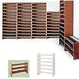 Sistema modular Botellero MEDOC, Módulo 1, pino cereza, capacidad 24 botellas, apilable / ampliable - alt. 44,5 x anch. 68 x pr. 27 cm