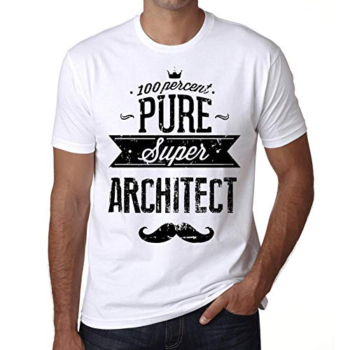 One in the City Hombre Camiseta Vintage T-Shirt Gráfico 100% Pure Architect Blanco