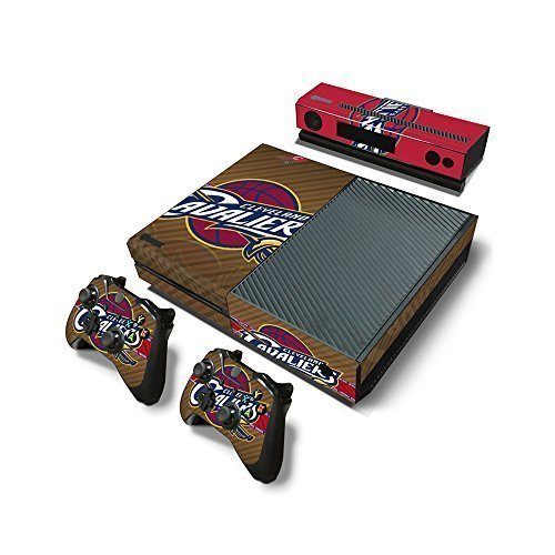 Microsoft Xbox One Skin Decal Sticker Set - NBA Cleveland Cavaliers (1 Console Sticker + 2 Controller Stickers + 1 Kinect Sensor Sticker) by COLORSKIN - Cleveland Cavaliers-decal