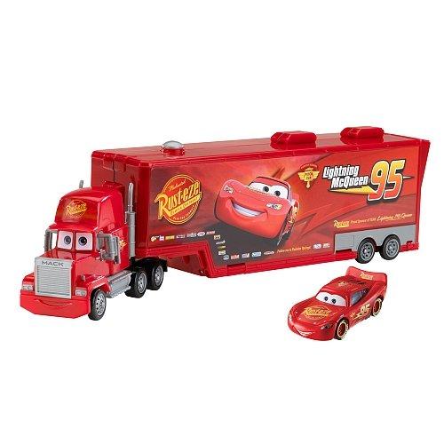 disney-mack-camion-43cm-trasportatore-modellini-auto-cars-con-saetta-mcqueen-originale-mattel