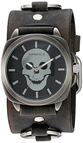 Nemesis Unisex-Adult Analogue Japanese-Quartz Watch with Patent Leather Strap KFRB935K