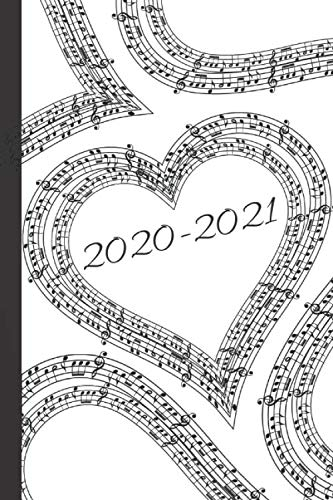 Black & White Heart Sheet Music Lovers 25 Month Weekly Planner Dated Calendar Gift Notebook  for Women or Men: 2 years plus December To-Do ... 25 months Weekly Planner Book, Band 16)