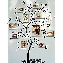AIURLIFE autoadesivi della parete dell'albero bianco cornici,