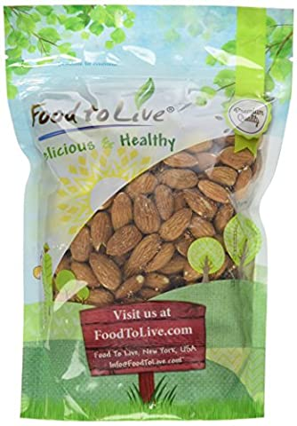 Food to Live Almonds (Whole, Raw, Shelled, Unsalted) (1 Pound)