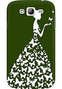 AMEZ designer printed 3d premium high quality back case cover for Samsung Galaxy Grand Neo GT (dark green white girl princess)