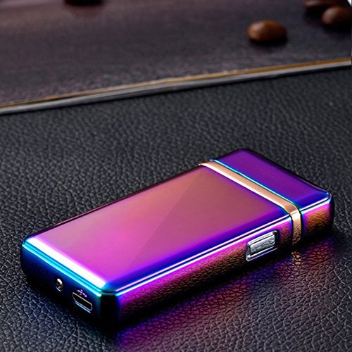 feuerzeug ohne gas Feuerzeug USB-doppelte Elektrisches Lichtbogen-Zündung Taste Sensitive-mit tollem Finish bunt-ohne Gas-hältdemWindunddemRegenstand[Lebenslange Garantie]