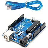 Robotbanao T9-NHXR-186H Uno R3 Atmega328p With Usb Cable Length 1 Feet, Blue and Black