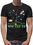 TLM Astro Invaders T-Shirt Uomo XXXXL Nero