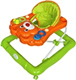 Bebe Style Deluxe Teddy Baby Walker (Orange/ Green)