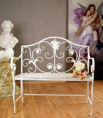 Herrschaftliche Gartenbank Traum In Weiss Viktorianisch Palazzo Exclusiv