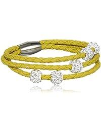 sweet deluxe Damen-Armband rhodiniert Glas 19 cm - 4452