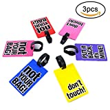SwirlColor PVC Luggage Tags Funny Words Suitcase Luggage Tags Random Delivery-3 pc