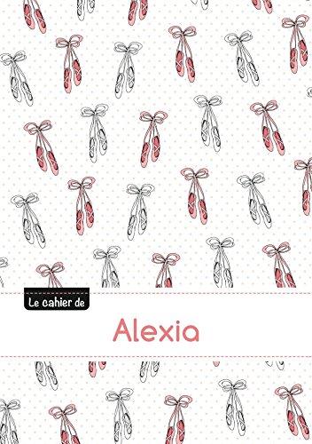 Le cahier d'Alexia - Petits carreaux, 96p, A5 - Ballerine (Enfant)
