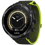 SUUNTO, Contenuto: 1 Orologio GPS Multisport 9 Baro, Cavo USB, Lunghezza del Cinturino: 24,5 cm, Nero/Lime, SS050449000 Unisex-Adult, One Size