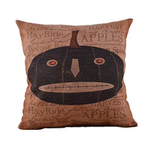 Halloween Pumpkin18x18CM Burlap Pillow Cases Cushion Covers (Halloween Tiger Daniel)