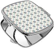 مرآة جيب، بتصميم زخرفة تراثية رمضانية، شكل مربع