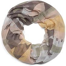 0c37d4212a8d styleBREAKER Snood avec motif imprimé aztèque Kelim, écharpe tube, foulard  loop, femmes 01016161