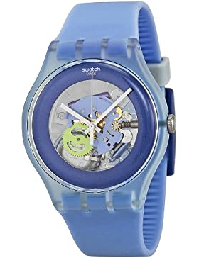 Swatch Unisex-Armbanduhr New Gent Cool Me Analog Quarz Silikon SUOS100