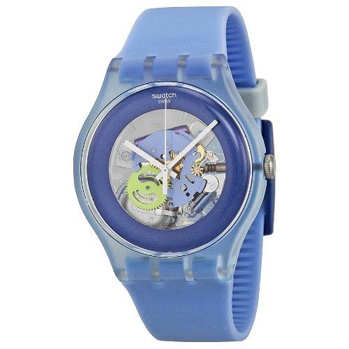 Swatch Unisex-Armbanduhr New Gent Cool Me Analog Quarz Silikon SUOS100