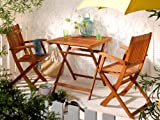 BALKON-SET Gartenmöbel Gartenset - 1 Klapptisch + 2 Klappstühle Balkonset - NEU