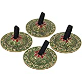 Dharmaobjects Belly Dancing – OM PRO doigt Zills Cymbales et 2 paires/4PCS Green