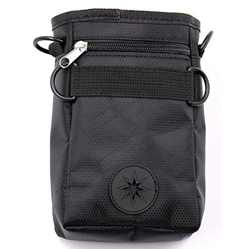 behandeln Pouch - Haustier behandeln Beutel verstellbare Taille Tasche für Pet Trainer - schwarz (Kleine Leckerbissen Taschen)