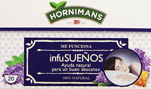 Hornimans - Me funciona InfuSueños - Bolsitas de té pasiflora, lavanda y miel - 20 unidades