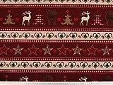 ab 1m: Festlicher Weihnachtsstoff, Baumwoll-Leinen, 160cm,