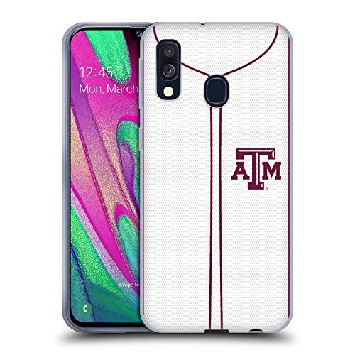Head Case Designs Offizielle Texas A&M University TAMU Baseball-Jersey Soft Gel Huelle kompatibel mit Samsung Galaxy A40 (2019) University Of Texas-jersey